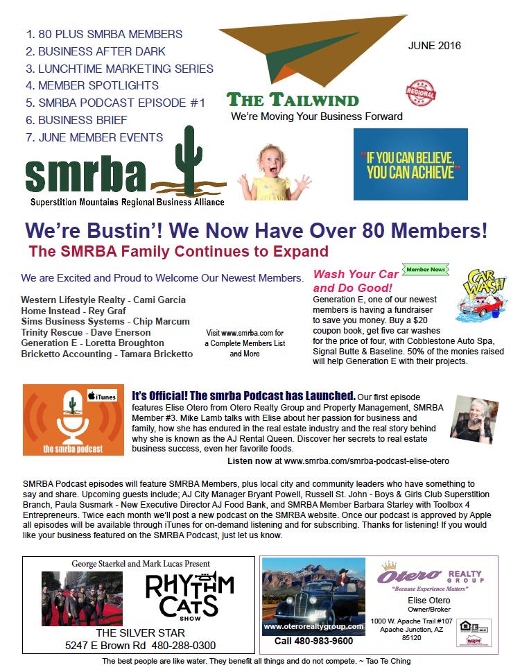 SMRBA Tailwind for June 2016